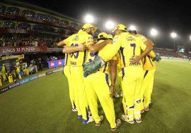 Chennai Super Kings Huddle