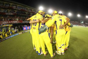 Chennai Super Kings Huddle