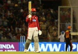 Chris Gayle, a massive hitter of Kings 11 punjab