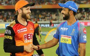 Rajasthan Royals vs Sunrisers Hydrabad