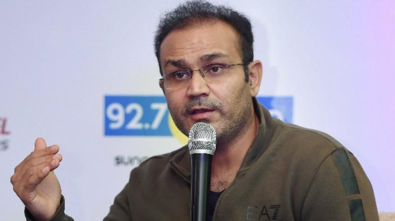 sehwag in an event