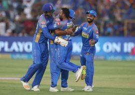 Rajasthan Royals celebrates their win