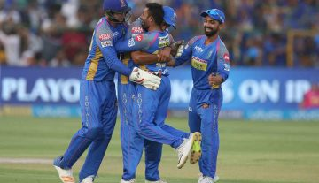Rajasthan Royals celebrates their win