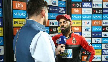 Virat Kohli after at post match presentation ceremony