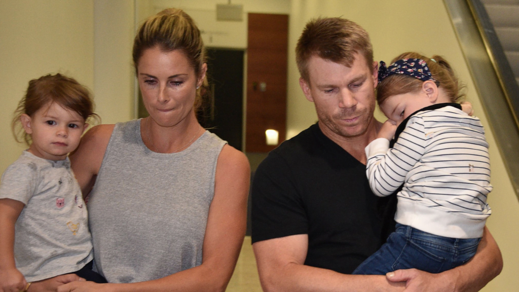 david warner with family