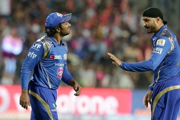 Raydu and Harbhajn play for mumbai Indians