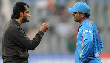 Dhoni and Sandeep Patil