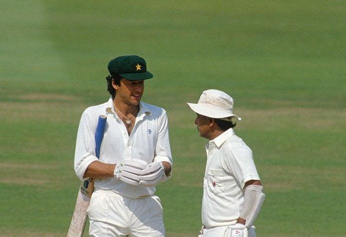 Sunil Gavasker and Imran Khan