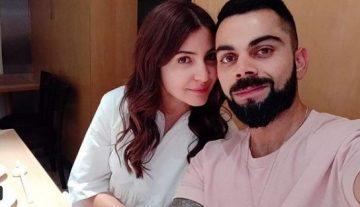 Virat Kohli with Wife Anushka Sharma
